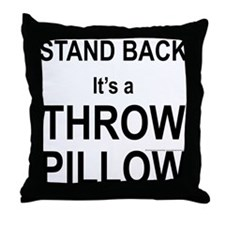 Warning Throw Pillow