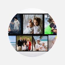 7 Photo Family Collage Button