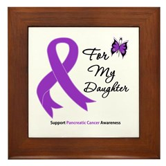 PancreaticCancer Daughter Framed Tile