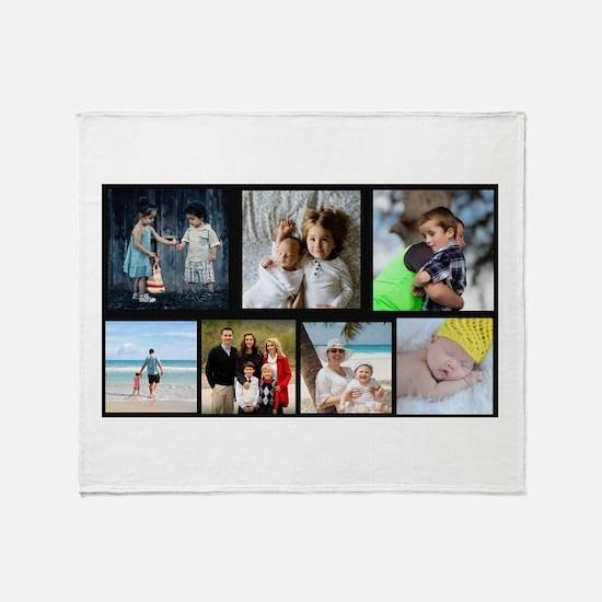 7 Photo Family Collage Throw Blanket