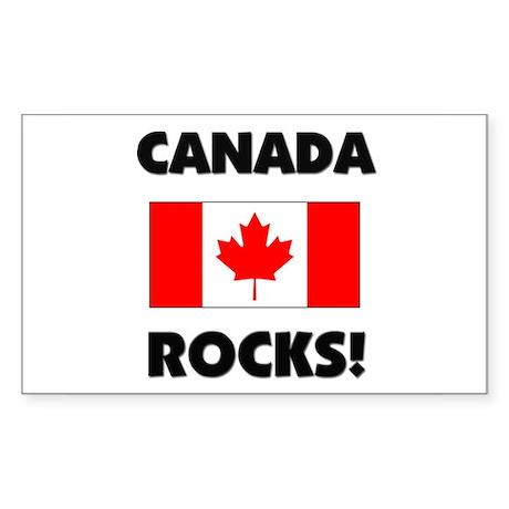 Canada Rocks Rectangle Sticker