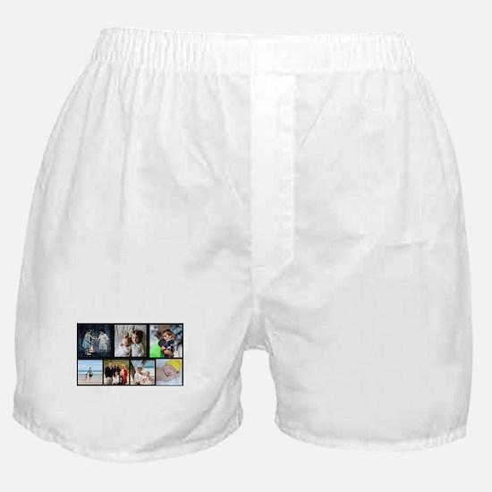 7 Photo Family Collage Boxer Shorts