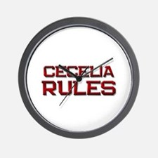 cecelia rules Wall Clock