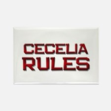 cecelia rules Rectangle Magnet