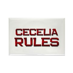 cecelia rules Rectangle Magnet (10 pack)
