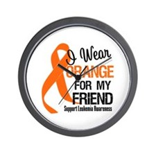I Wear Orange For My Friend Wall Clock