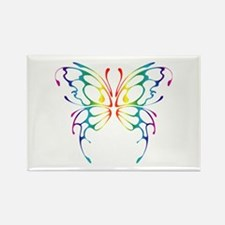 Rainbow Wings Rectangle Magnet