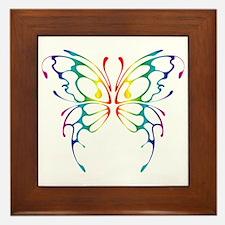 Rainbow Wings Framed Tile
