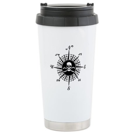 Compass Rose II Stainless Steel Travel Mug