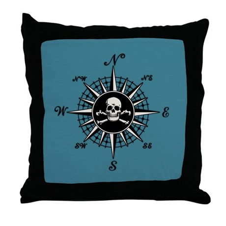 Compass Rose II Throw Pillow