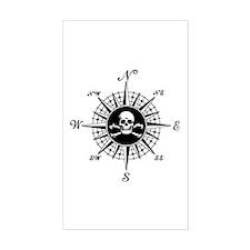 Compass Rose II Rectangle Decal