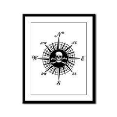 Compass Rose II Framed Panel Print