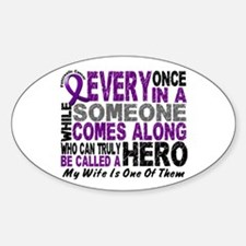 Hero Comes Along Wife Pancreatic Cancer Decal