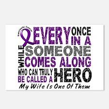 Hero Comes Along Wife Pancreatic Cancer Postcards