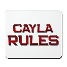 cayla rules Mousepad