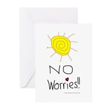 No Worries Greeting Cards (Pk of 10)