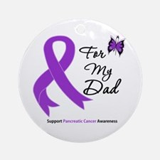 Pancreatic Cancer Dad Ornament (Round)