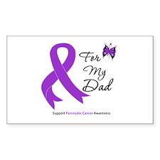 Pancreatic Cancer Dad Rectangle Decal