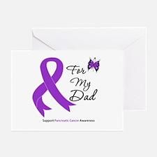 Pancreatic Cancer Dad Greeting Cards (Pk of 20)
