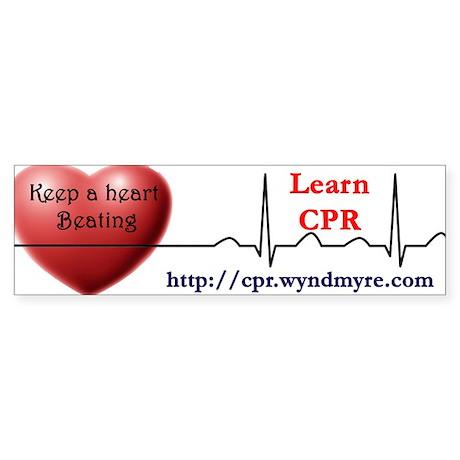 Learn CPR Bumper Sticker