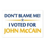 Don't Blame Me... Postcards (Package of 8)