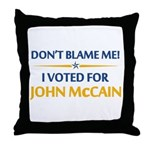 Don't Blame Me... Throw Pillow