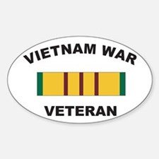Vietnam War Veteran 2 Oval Decal