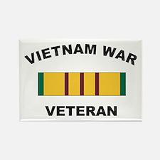 Vietnam War Veteran 2 Rectangle Magnet