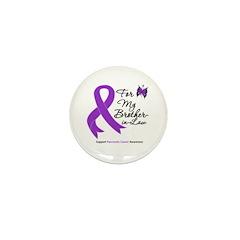 PancreaticCancer BrotherInLaw Mini Button (100 pac