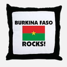 Burkina Faso Rocks Throw Pillow