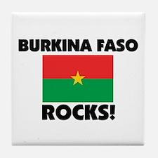 Burkina Faso Rocks Tile Coaster