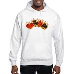 Burning Card Suits Hooded Sweatshirt