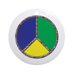 Peace, Baby Ornament (Round)