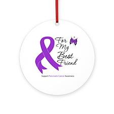 PancreaticCancer BestFriend Ornament (Round)