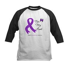 Pancreatic Cancer Aunt Kids Baseball Jersey