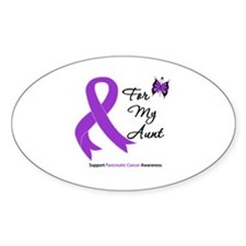 Pancreatic Cancer Aunt Oval Decal