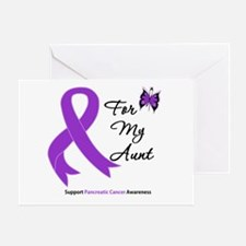 Pancreatic Cancer Aunt Greeting Card