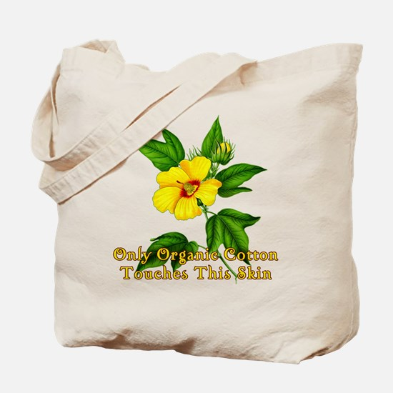 ORGANIC COTTON with Cotton Flower Tote Bag
