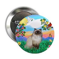 """Bright Life / Himalayan Cat 2.25"""" Button"""