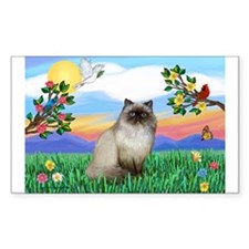 Bright Life / Himalayan Cat Rectangle Decal