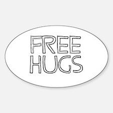 Free Hugs Oval Decal