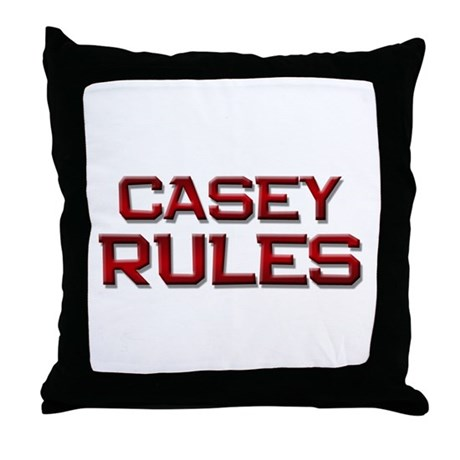 Throw Pillows Room And Board : casey rules Throw Pillow by meforamerica