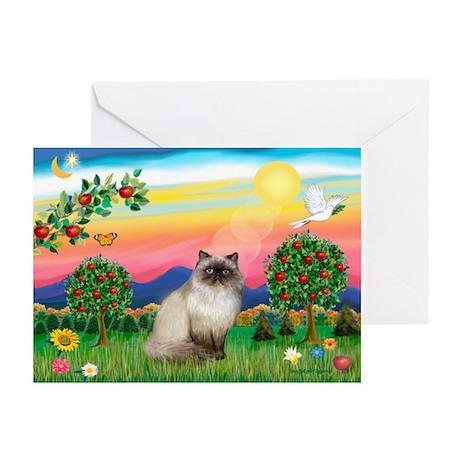 Bright Country / Himalayan Cat Greeting Cards (Pk