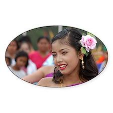 Thai Dancer Oval Decal