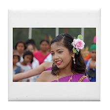 Thai Dancer Tile Coaster