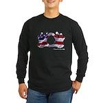 Hand Sign Flag Long Sleeve Dark T-Shirt