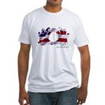 Hand Sign Flag Fitted T-Shirt
