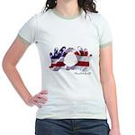 Hand Sign Flag Jr. Ringer T-Shirt
