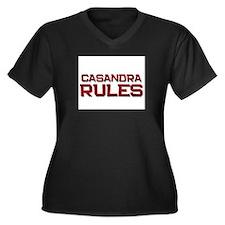 casandra rules Women's Plus Size V-Neck Dark T-Shi