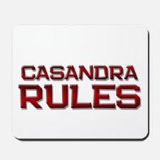 casandra rules Mousepad